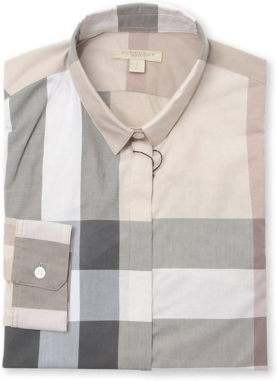 BURBERRY - Camisas - para mujer beige 40: Amazon.es: Ropa y ...