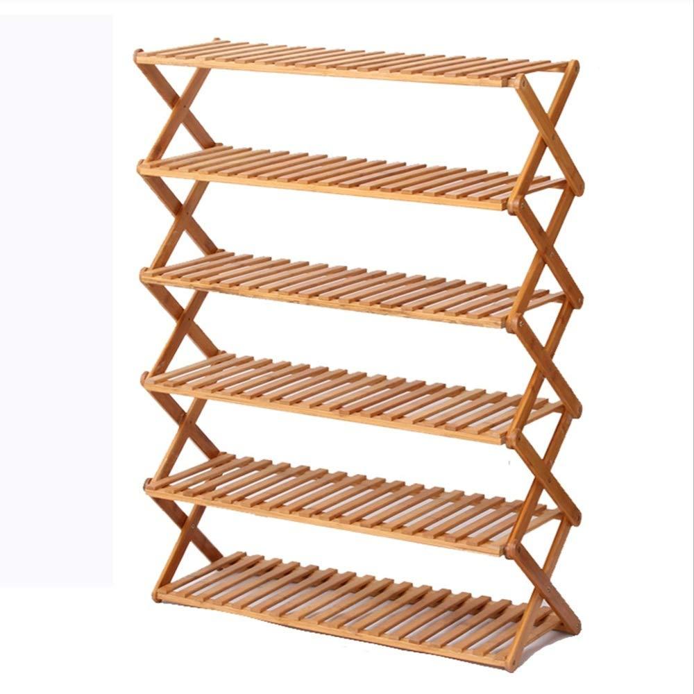 NAN liang 竹家庭折り畳み靴ラック/多層シンプルな靴箱/玄関クリエイティブシューズ収納ラック (色 : E, サイズ さいず : 90CM) B07MDNYJKC