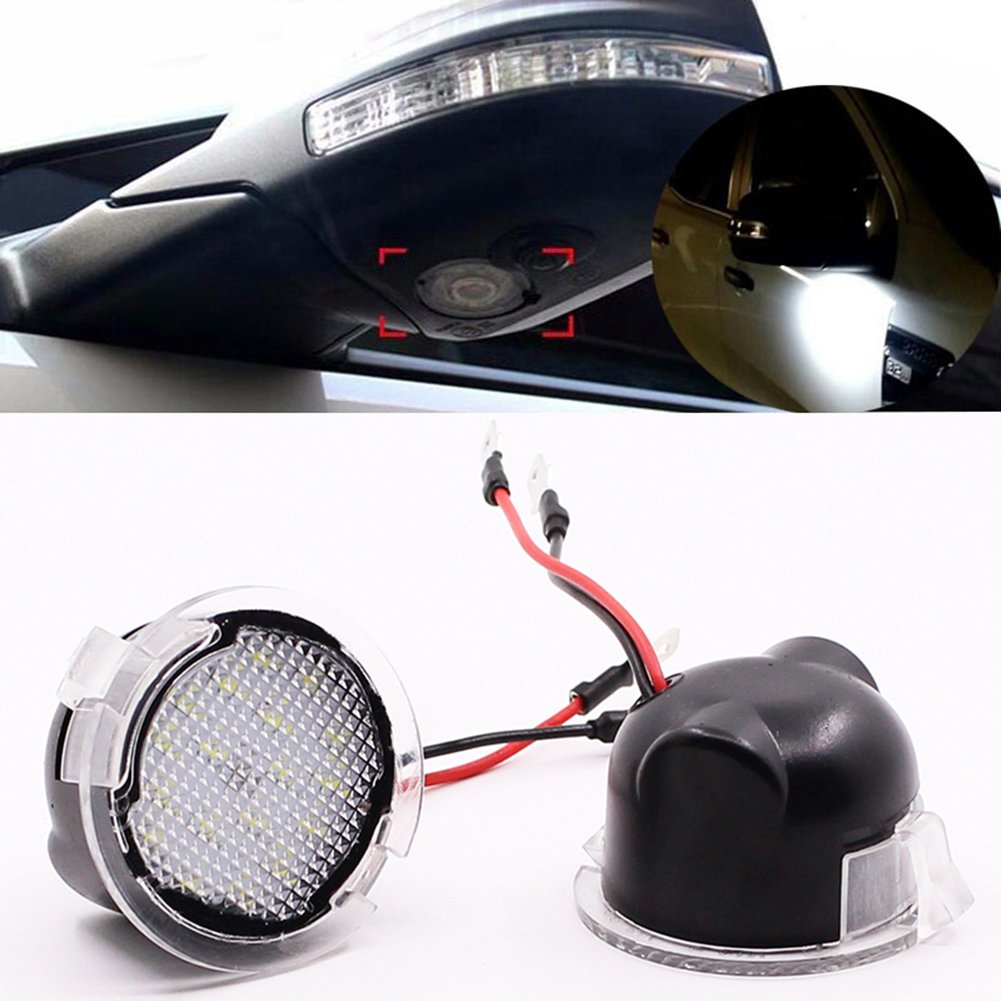 Led Under Side View Mirror Puddle Lights For Ford Edge 2007 Fusion Cigarette Lighter Fuse Box Range Flex Explorer Expedition Mondeo Everest Taurus F 150 Pack Of 2pcs