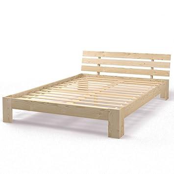Holzbett Doppelbett Holz 140x200 160x200 180x200 Cm Massivholz Bett