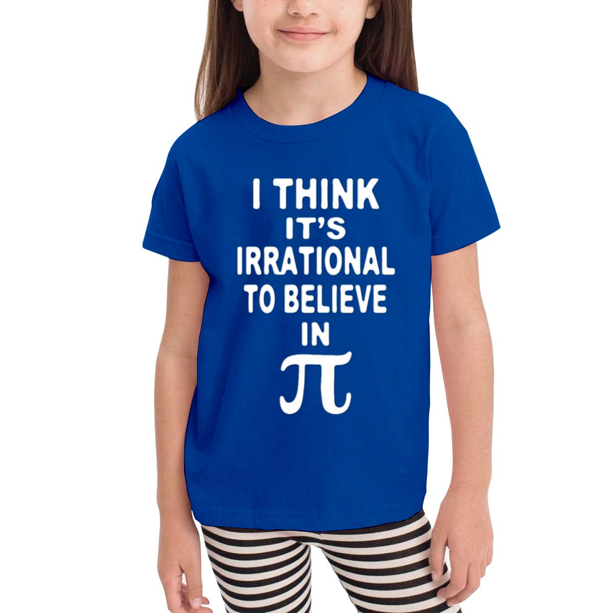 Belive in Pi 100/% Cotton Toddler Baby Boys Girls Kids Short Sleeve T Shirt Top Tee Clothes 2-6 T