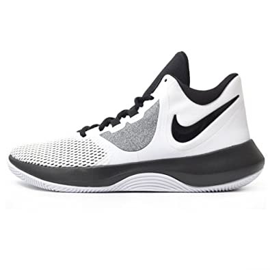 4491aaf95fd324 Nike Men's Mesh Air Precision White Black Shoes -9 US: Buy Online at Low  Prices in India - Amazon.in