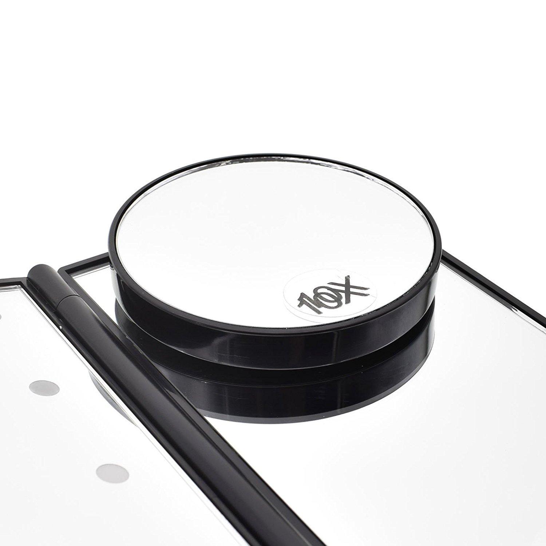 Dolovemk Miroir de Maquillage 10 Fois Grossissant7.5cm avec 2ventouses pour Miroir Éclairé Miroir de Salle de Bain K33