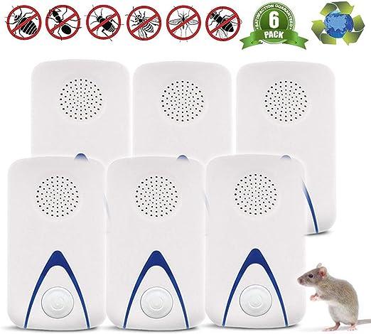YJHH Repelente Ultrasónico Mosquitos, Repelente Hormigas, Control de Plagas para Insectos Roedores, Moscas, Hormigas, Arañas, Pulgas, Ratoncitos—Mascotas y Humanos 100% Segura: Amazon.es: Hogar