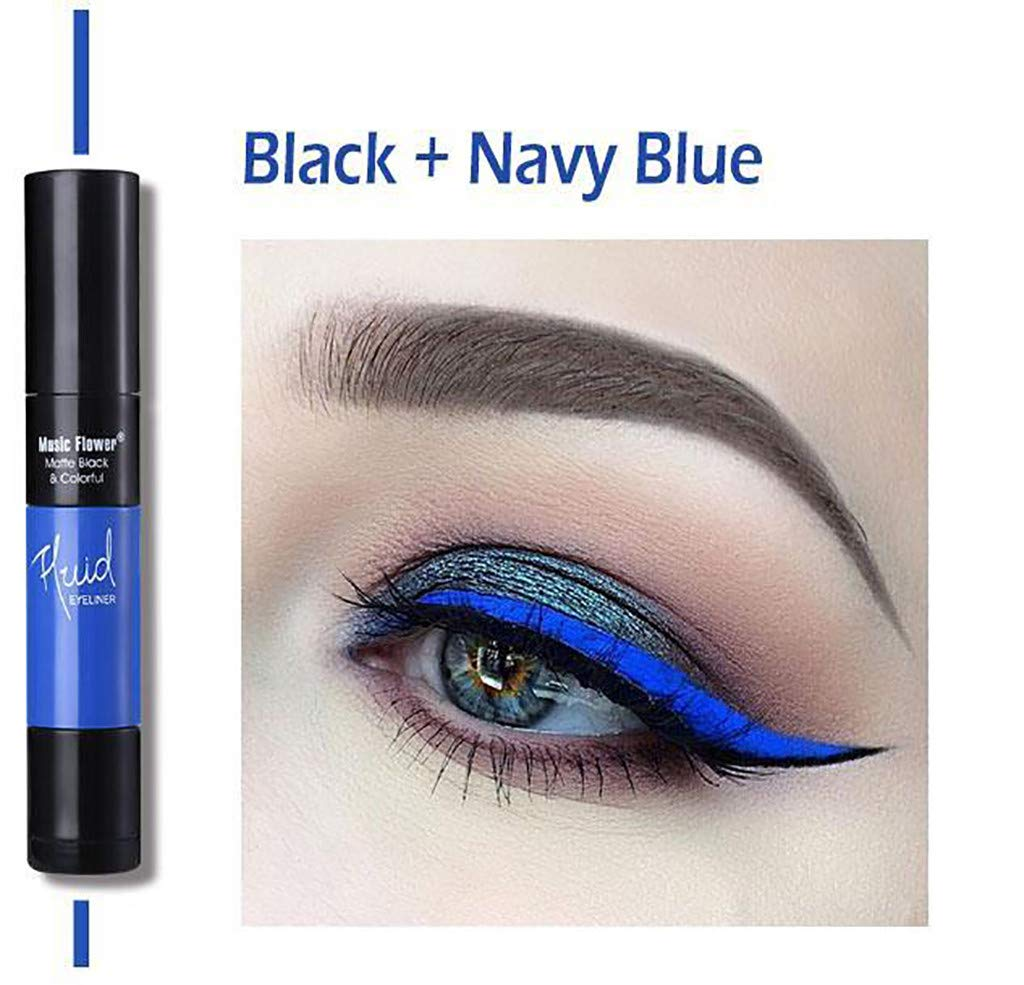 Clearance Sale!DEESEE(TM)2 in 1 Easy Finger Tip Eyeliner Pencil Waterproof Makeup Eye Liner Long-Lasting (Blue)