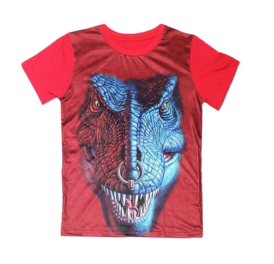Coralup Little Boys Kid's Top Dinosaur Monster Cobra Print T-Shirt (Navy,2-10 Years)