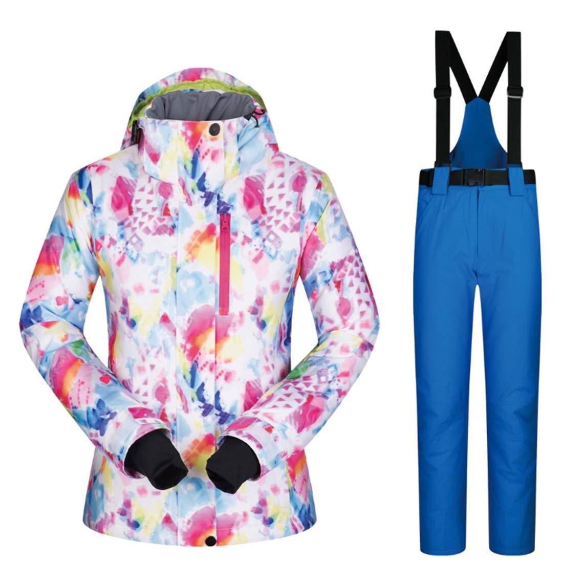 YXDIANZI 女性のスキー ジャケット高防風防水技術スノー ジャケットS-XL (色 : 09, サイズ : L)  Large