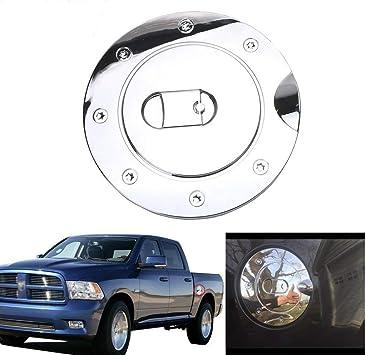 Billet Chrome Fuel Gas Door w// lock For 09 10 11 Dodge Ram 1500 2500 3500