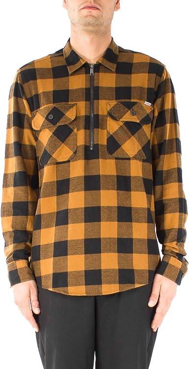 Carhartt - Camisa Casual - para Hombre marrón L: Amazon.es: Ropa y accesorios