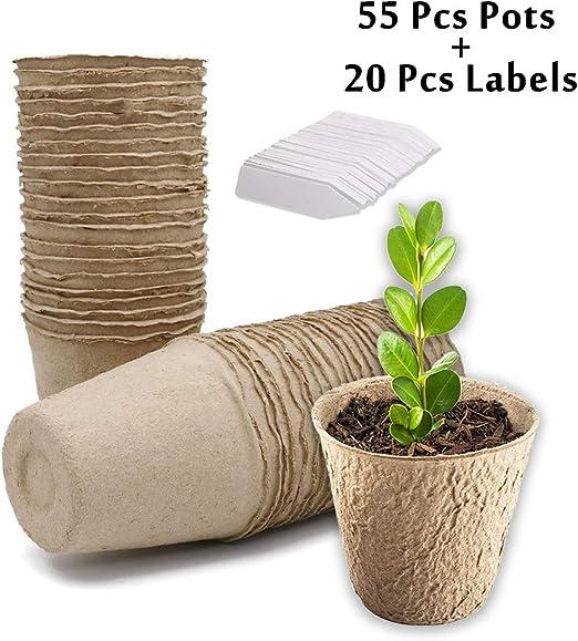 WeNet - Juego de 55 macetas para Plantas, protección del Medio ...
