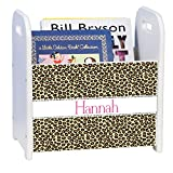 Personalized Cheetahlicious White Book Caddy and Rack