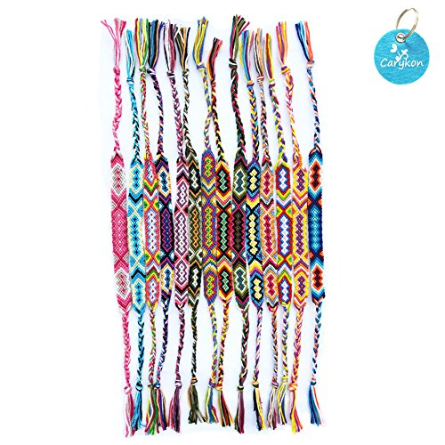 Carykon 10 PCS Nepal Woven Friendship Bracelets]()