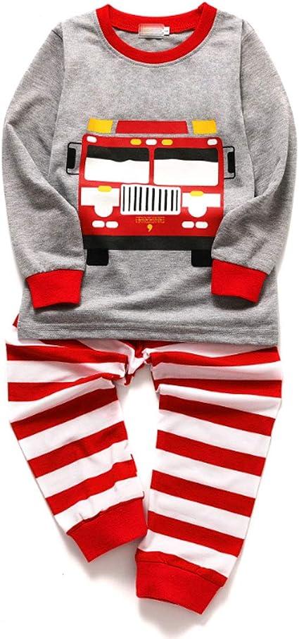 CSLEEPWEAR Pijamas De Dibujos Animados De Camiones De ...