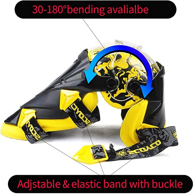 white SCOYCO Racing Knee Guards,PP PE Hard Collision Avoidance Crashproof Rotatable Bionic Designed for Moto//ATV//BMX