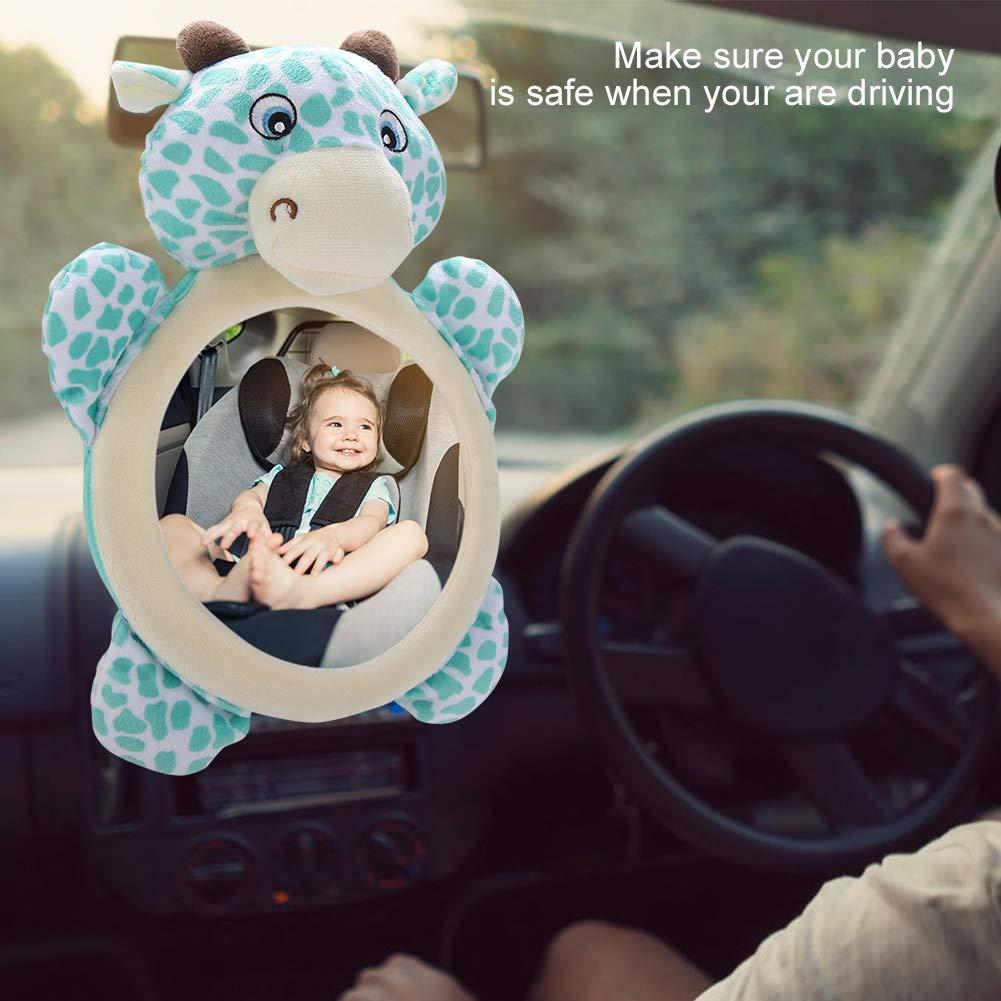 h/ängende R/ücksitzspiegel im Sicherheitsstuhl Auto f/ür Baby-Erwachsene Sicherer R/ückspiegel Meer verzerrter Spiegel klares Baby in Sicht