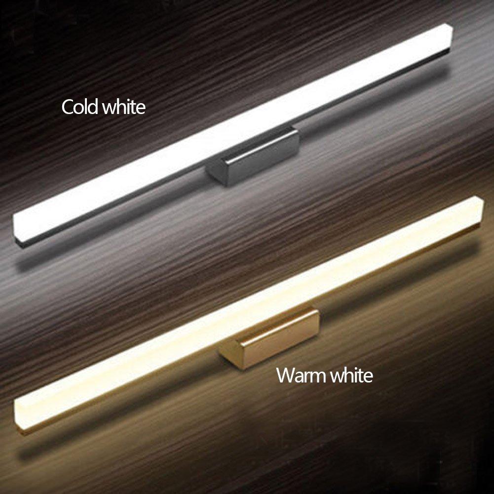 モダンバスルームウォールライトミラーフロントLED照明防水Antifogging LEDチューブ浴室洗面化粧台ライトスチール+アルミ+アクリル 7W 15.7 inch シルバー B071R3SKMQ 22186 7W 15.7 inch|コールドホワイト コールドホワイト 7W 15.7 inch