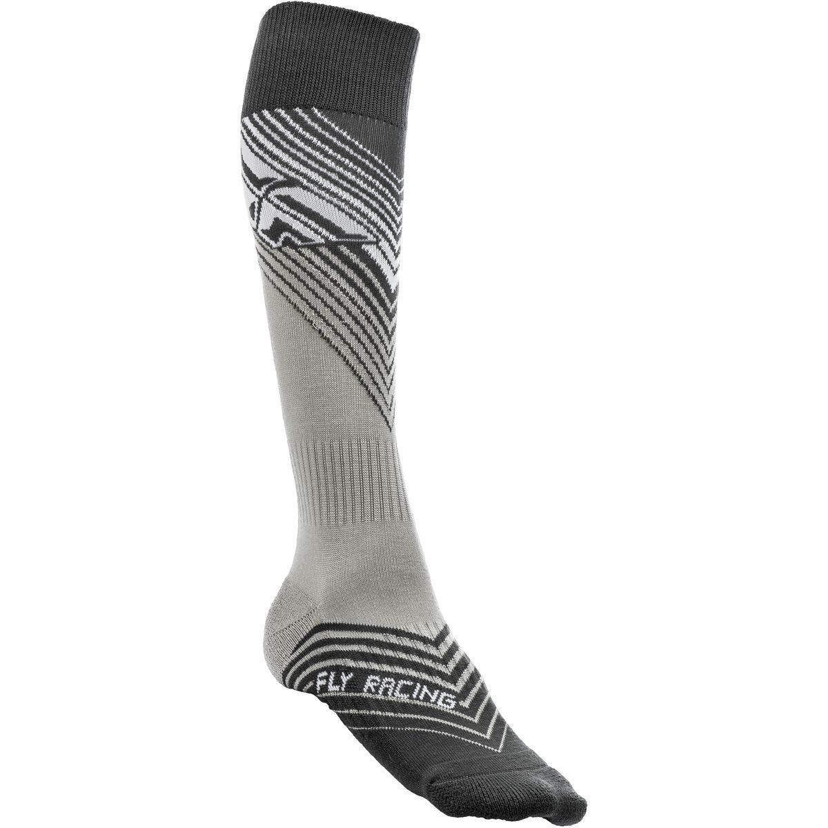 Fly Racing Unisex-Adult Mix Socks Thin (Black/White, Youth)