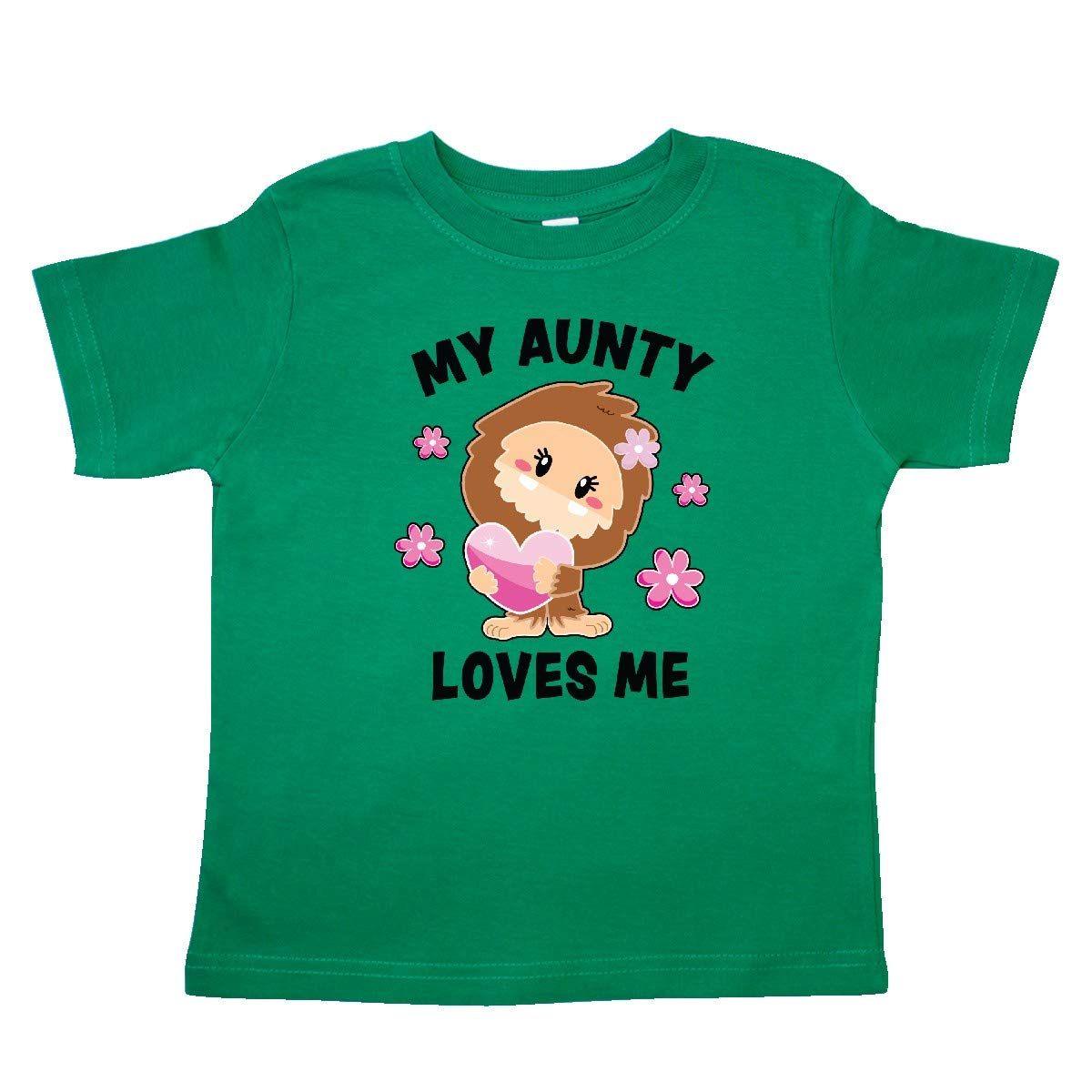 inktastic My Aunty Loves Me with Bigfoot Toddler T-Shirt