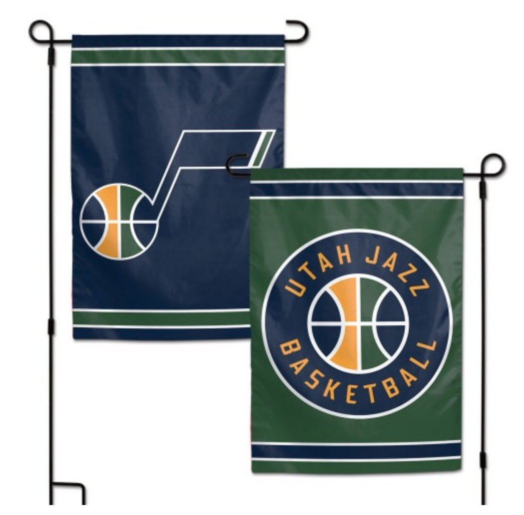 WinCraft NBA Utah Jazz 12.5'' x 18'' Inch 2-Sided Garden Flag Logo