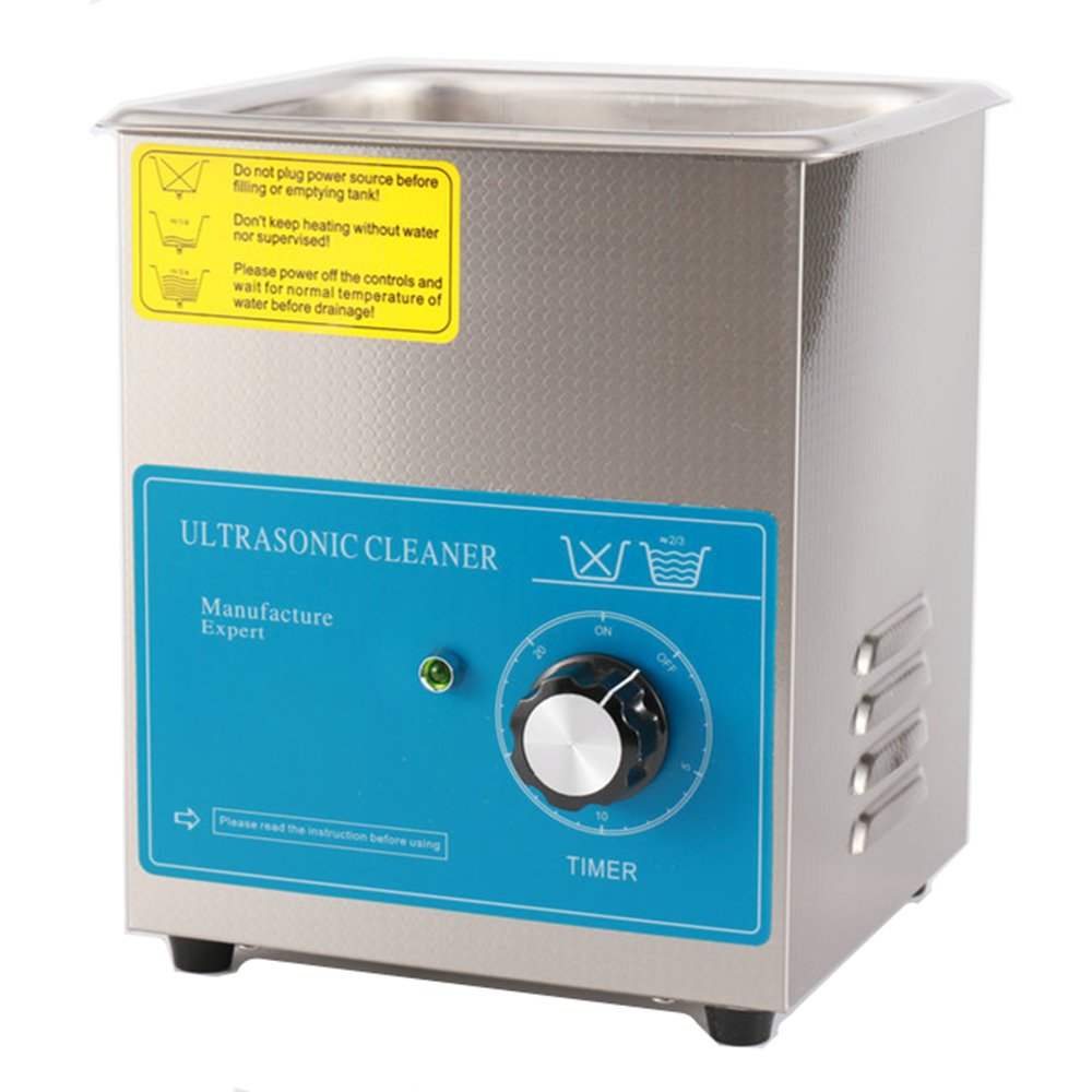 600W 1.3L Eyeglass cleaning machine Commercial Stainless Steel Ultrasonic Cleaner Eyeglasses Sunglass Jewelry Cleaner with Timer (110V)