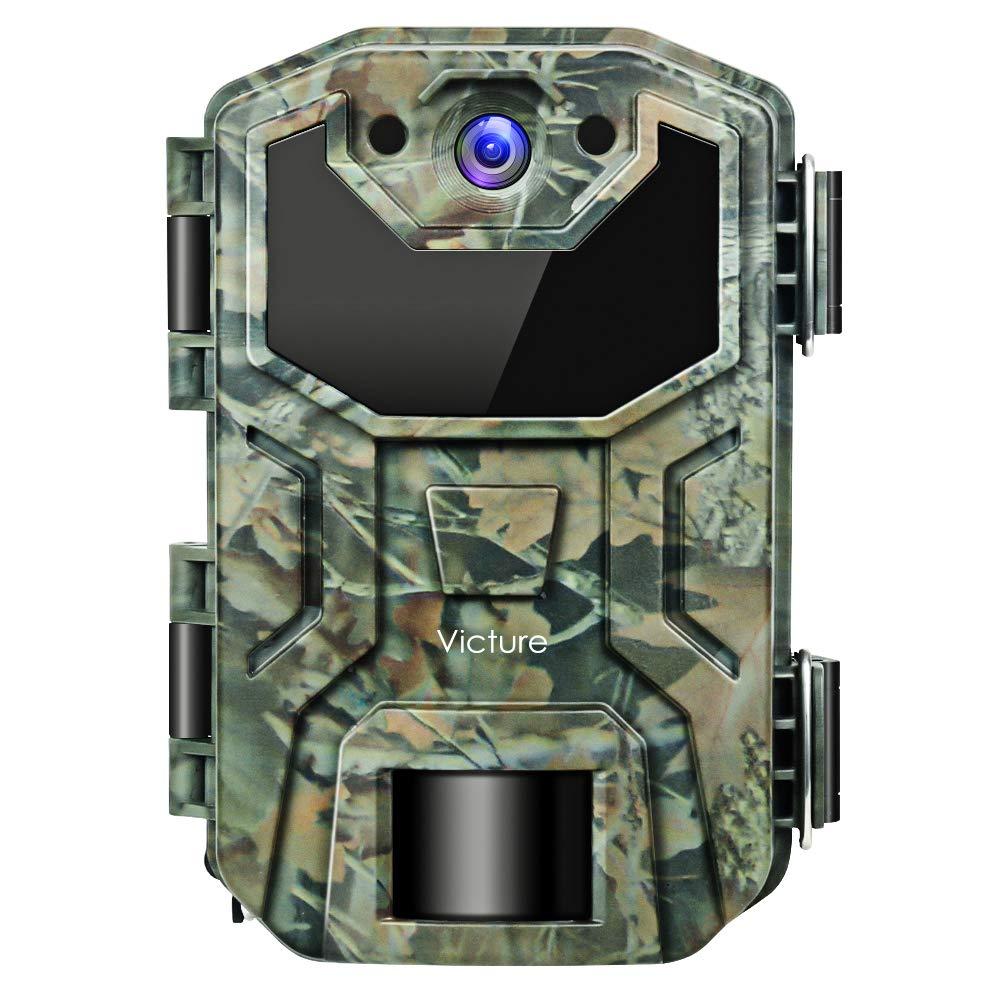 Victure Wildkamera 16MP 1080P Full HD No Glow Infrarot Nachtsicht Überwachungskamera mit Bewegungsmelder Nachtsicht und Upgrade IP66 Wasserdichtes Design