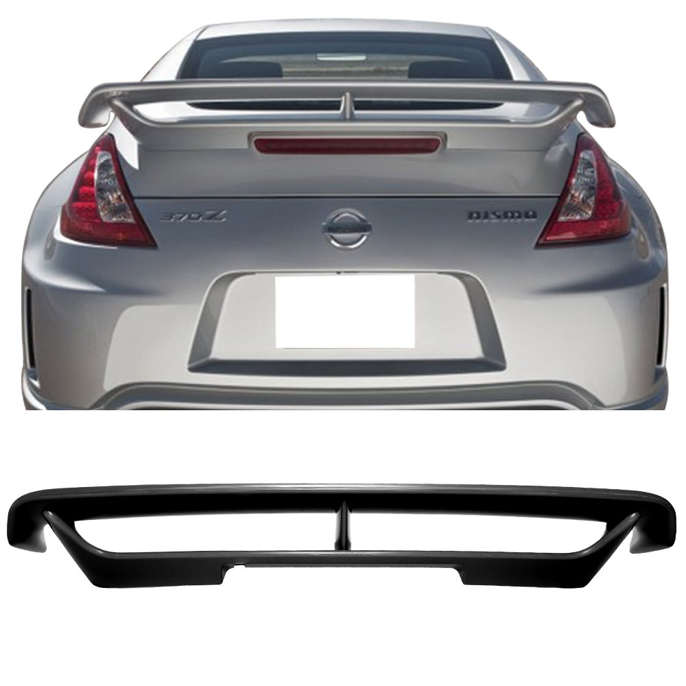 Nissan 370z Z34 SL JDM Style Urethane Front Bumper Lip Chin Spoiler For 09-12 Models ONLY.