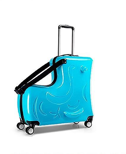 648c616efb8b Children's Luggage, Universal Wheel Suitcase, 20 Inch Rideable ...