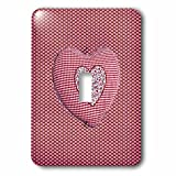Beverly Turner Heart Design - Pillow Look Heart Shape on Smaller Hearts - Light Switch Covers - single toggle switch (lsp_236899_1)