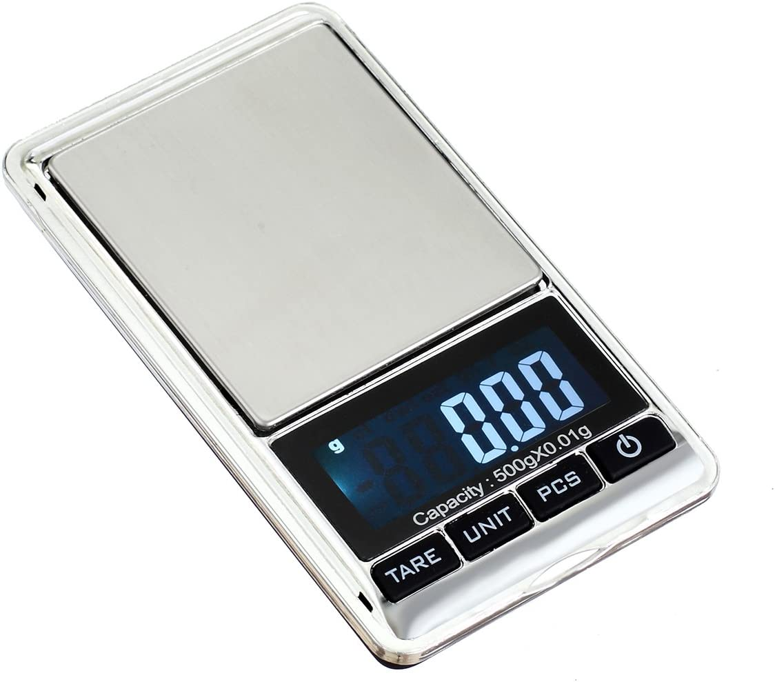 TBBSC Jewelry Scale,500g/0.01g Reloading Weighing, High, Precision Digital Pocket Scale