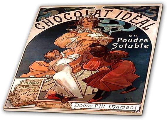 ct/_204281/_2 Ceramic Tile 6-Inch 3dRose Print of Muchas Chocolate Ad