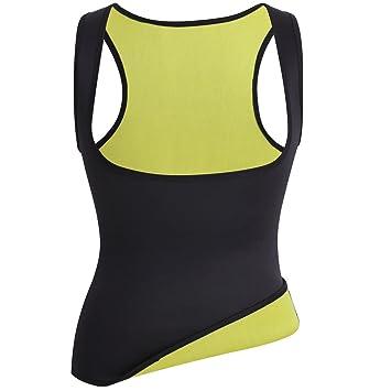 Chaleco de neopreno Tee Shirt Neoprene ropa de sudación para mujer chaqueta de sauna de camiseta