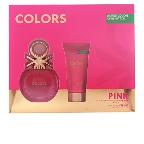 Benetton Colors Pink Set de Agua de Colonia y Loción Corporal
