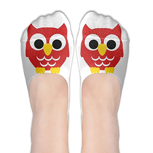 83120889b52ce No Show Socks - Women's Girls Casual 3D Printing Owl Liner Sock at ...