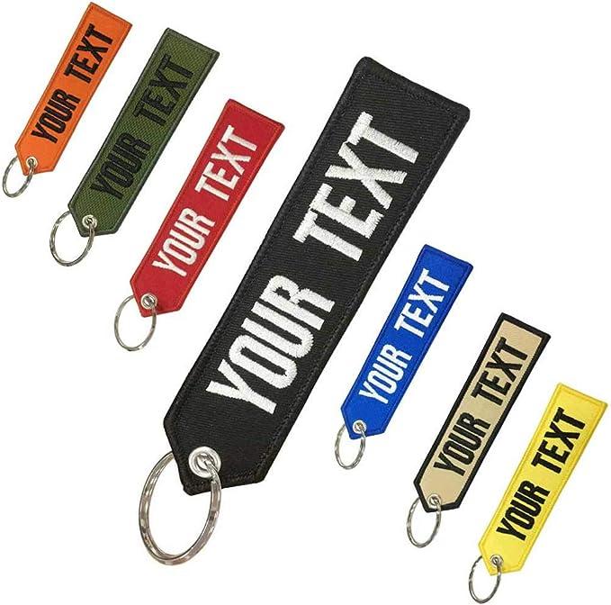 Llavero personalizado con texto propio, llaveros personalizados para motocicletas, coches, todoterrenos, scooters, doble cara para motocicletas, scooters, coches y coches: Amazon.es: Coche y moto