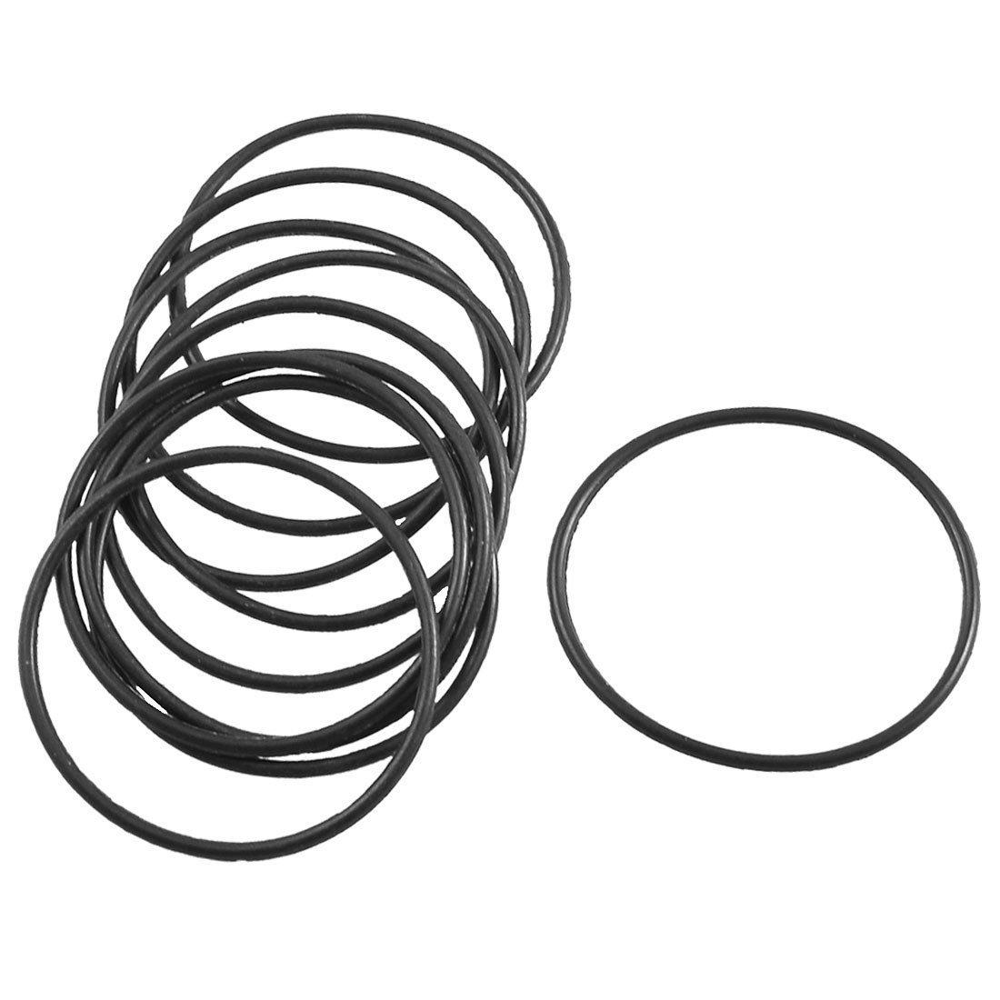 10pcs Negro Goma Sello de aceite O Ring Junta Arandelas De 34mm x 31mm x 1,5mm