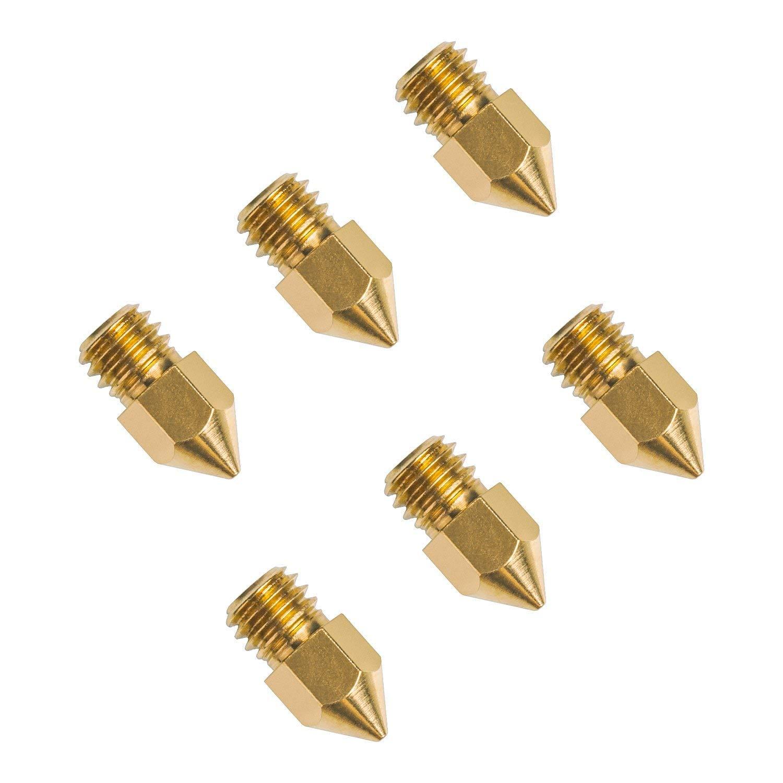 MK8 Dual Extruder 3D Printer Brass Head for 1.75mm Filament Printer Sedol 20pcs 0.4mm 3D Printer Nozzle MK8 Makerbot Creality CR 10.