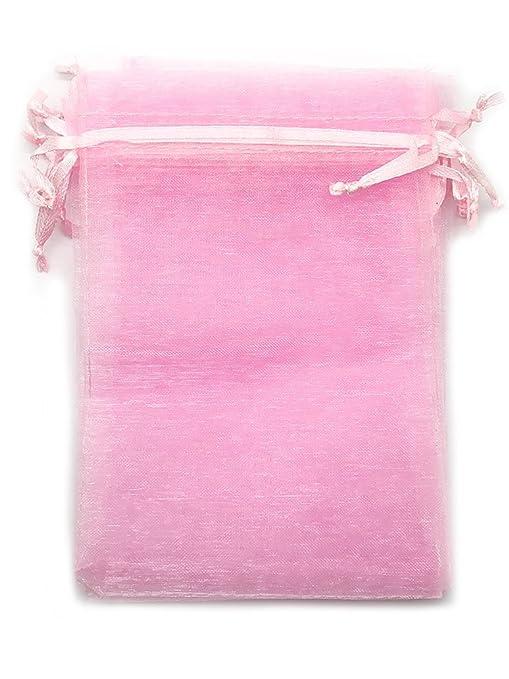 Amazon.com: huaha 60 Pcs Sheer Organza Cordón bolsas bolsas ...
