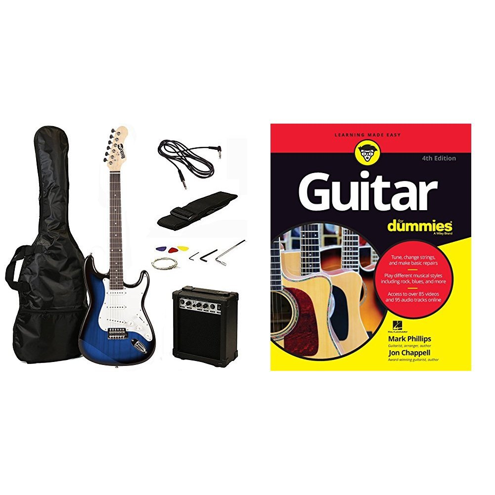 RockJam RJEG02-SK-BK ST Style Electric Guitar Super Pack with Amp, Gig Bag, Strings, Strap, Picks, Black PDT Ltd - IMPORT CA(UK Vendor Product FOB)