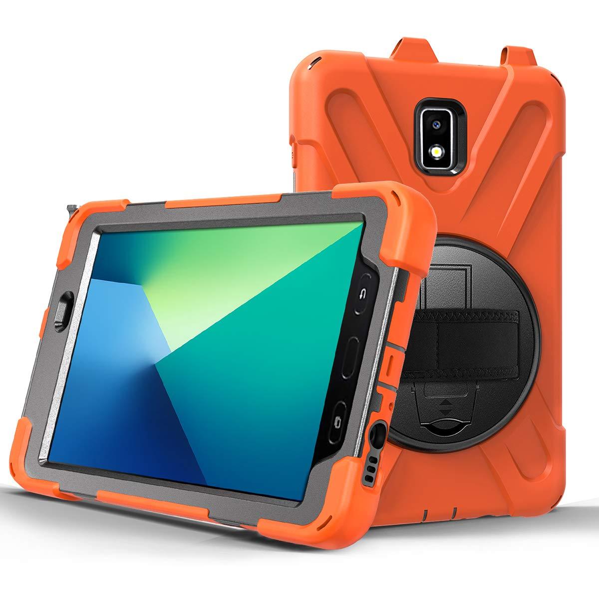 【超特価】 Galaxy Active Tab Active 2 2 8.0インチT390/T395/T397タブレット2019用ケース、内蔵スクリーンプロテクター、耐衝撃360度回転キックスタンド B07Q36DPRM、ハンドストラップ、ショルダーストラップ、鉛筆ホルダー COME2LOOK CAS-CBH-SS-T390-01 オレンジ B07Q36DPRM, コクラキタク:fbe3a69e --- a0267596.xsph.ru