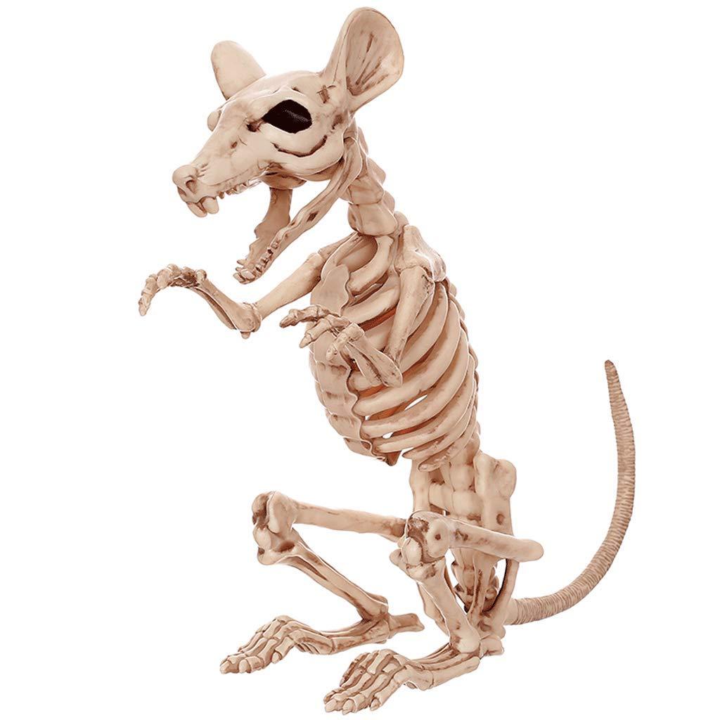 Slh Puntelli Di Casa Stregata Puntelli Horror Divertente Intero Simulazione Di Topo Animale Scheletro Di Scheletro Forniture Di Decorazione Di Halloween