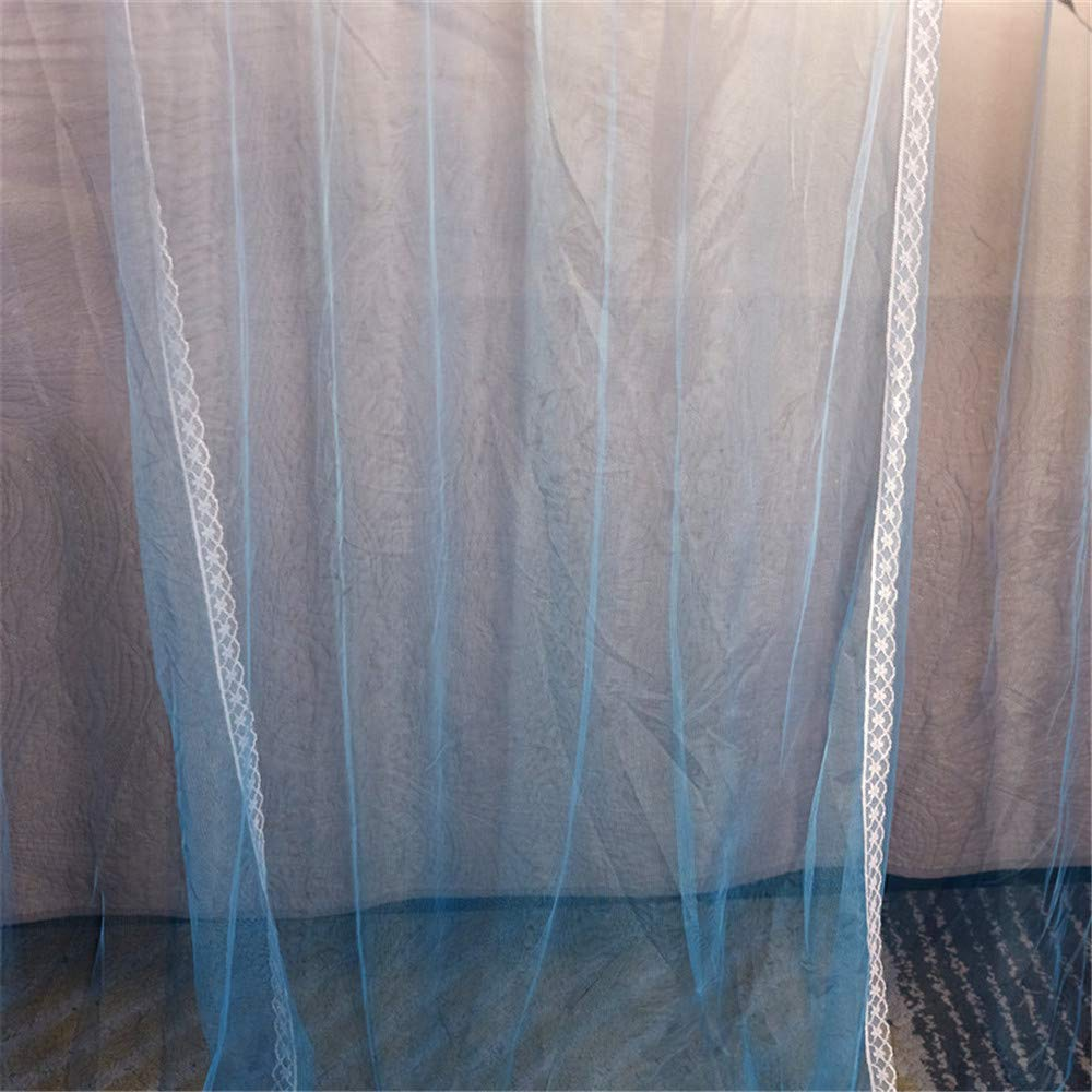 Mosquito net Double Bed Home Insect-Proof Children's Bedroom Gauze Princess Wind Floor Hanging Summer Decoration Tent, Blue, 1.5M by Lostryy-Mosquito Nets Baby (Image #3)