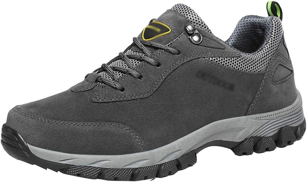 Yuanu Hombres Senderismo Zapatos Escalada Deportes al Aire Libre Senderismo Zapatillas Caminar Impermeable Zapatos de montaña Correr Zapatos Deportes ...