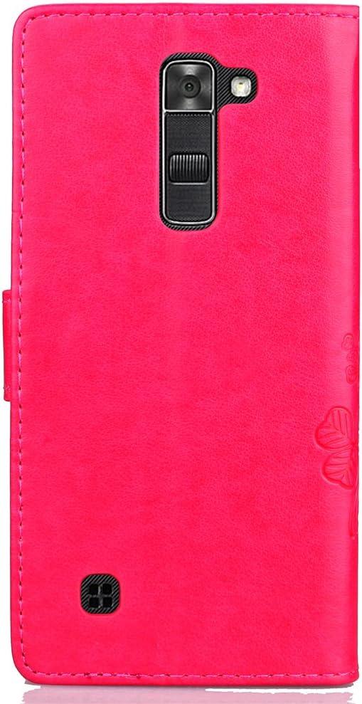 Docrax LG K10 2016 H/ülle Leder Case mit Standfunktion Magnetverschluss Flipcase Klapph/ülle kompatibel mit LG K10 DOSDA041043 Grau K420N Handyh/ülle