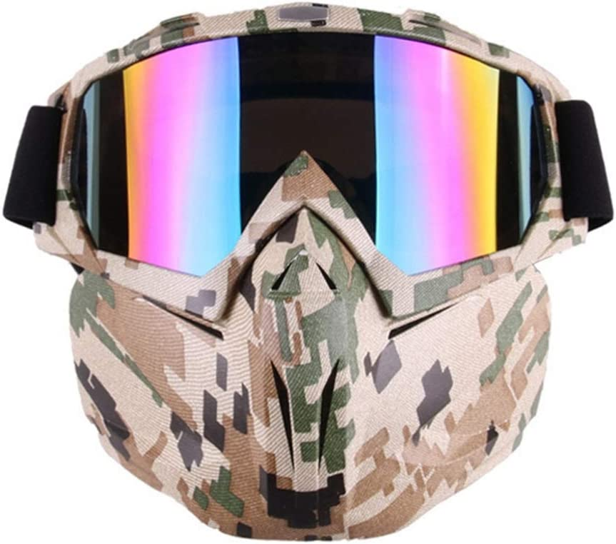 Kerr Louisa Motorcycle Motocross Goggles Mask Dirt Bike ATV MX Goggles for Desert Offroad Riding Racing Fits Men Women Youth Kids Clear Goggles