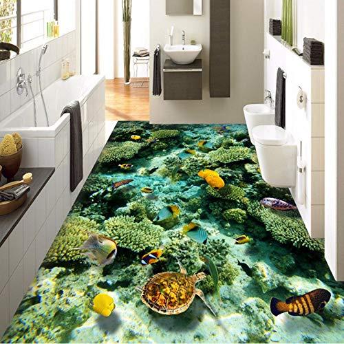 Decoración Living Wallpaper World Wallpaper Del Floor Pvc Baño Ocean Murale Sshssh Custom 3d 350x250cm 200x140cm Piso Room Autoadhesivo Mural qYxII0va