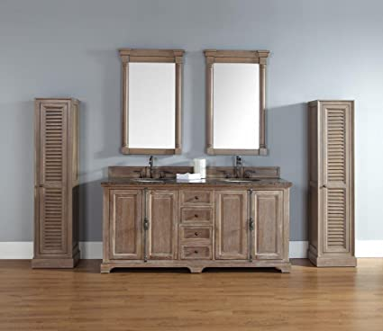 James Martin Providence 72u0026quot; Double Bathroom Vanity In Driftwood   Top  Not Included