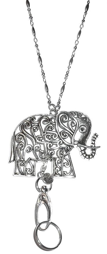 Amazon.com: Collar con colgante de elefante con cuentas ...