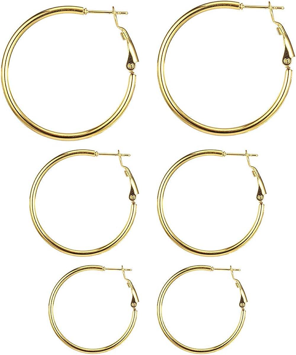Surgical Stainless Steel Hoop Earrings Set 20-50mm Huggie Hoop Earrings for Women and Men