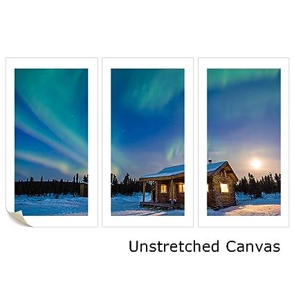 amazon com vvovv wall decor amazing landscape northern lights