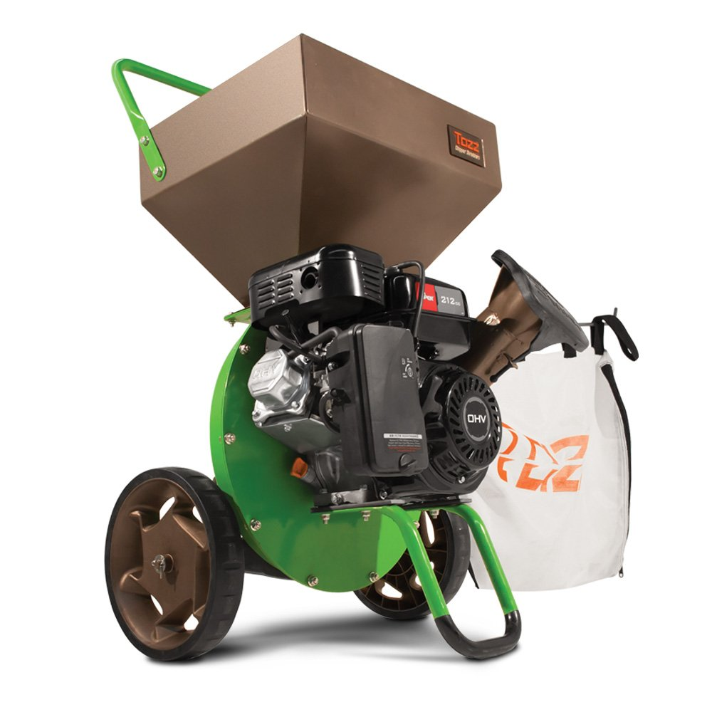 Tazz K32 Chipper Shredder - 212cc 4-Cycle Engine,